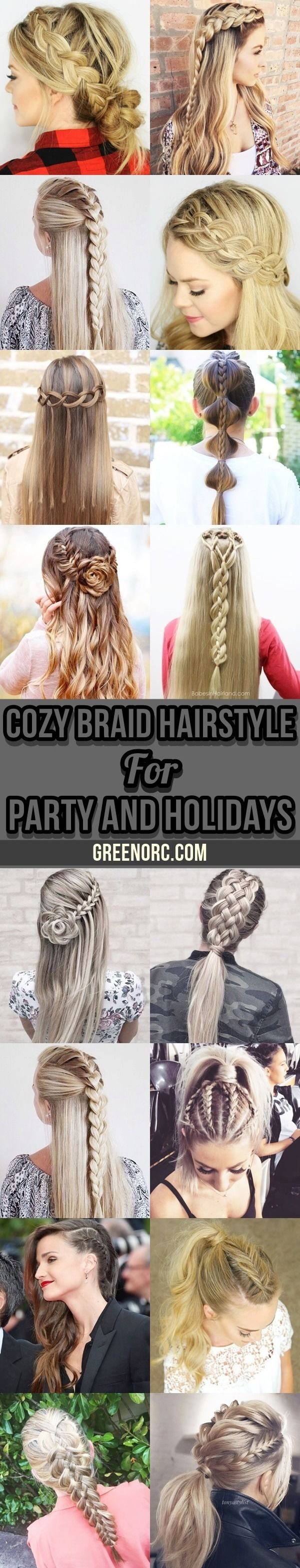 40 cozy braid hairstyle for party and holidays
