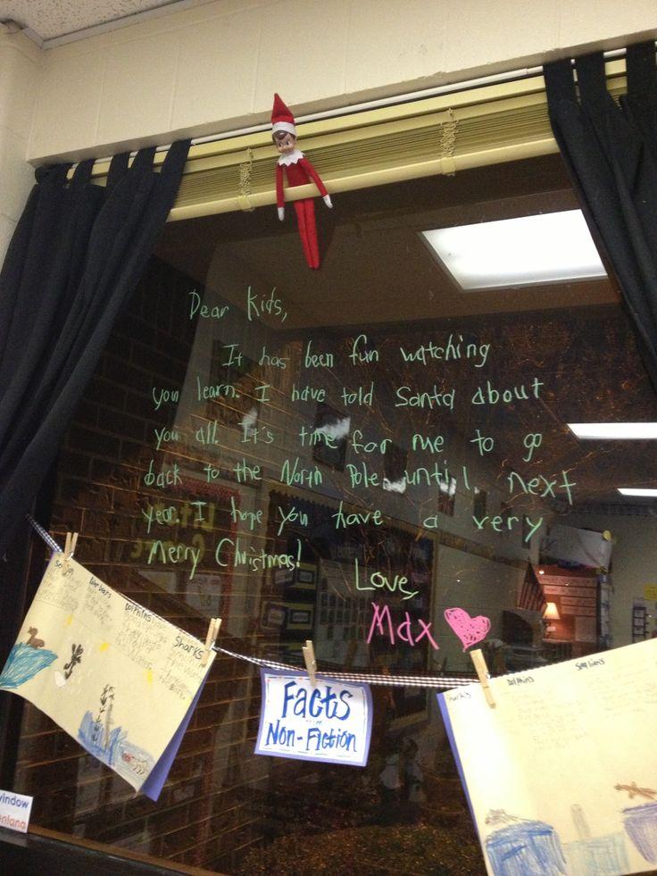 Classroom Elf on the Shelf - farewell