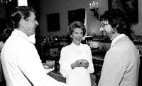 Ronald and Nancy Reagan with Steven Spielberg