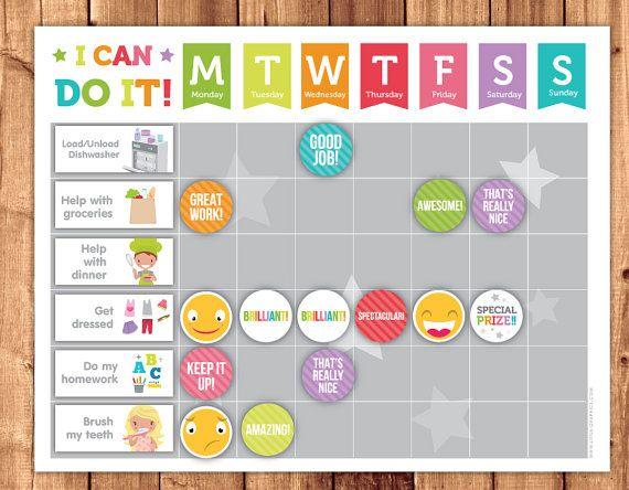 Best 20 Printable Reward Charts ideas – Child Reward Chart Template