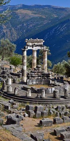 Greece Travel Inspiration - The Tholos temple, Delphi, Greece