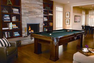 brunswick oakhill billiard table sport chalet basement pool
