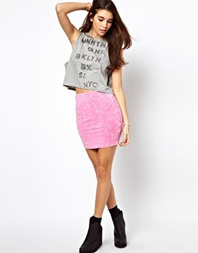 ASOS Mini Skirt in Acid Wash
