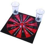 Un joc de cuplu unde cel ce pierde, castiga. :) Acest joc are o miza aparte: ramanerea fara haine a partenerului si golirea unor shoturi cu bautura preferata. Ruleta Striptease este compusa dintr-o suprafata cartonata de joc pe care sunt trecute pedepsele jocului si 4 shoturi. Inainte de folosire spalati paharele! Se poate juca in 2-4 persoane. ATENTIE! Acesta nu este un joc de copii sau o jucarie. Ruleta Striptease NU este un cadou destinat copiilor. Recomandam consumul moderat de alcool…