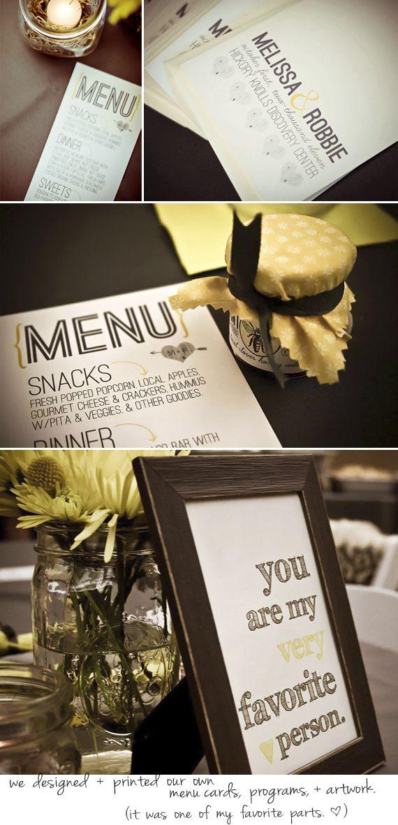 Bubby and Bean ::: Living Creatively: Our DIY Wedding Decor // Part 2 (Finally!)