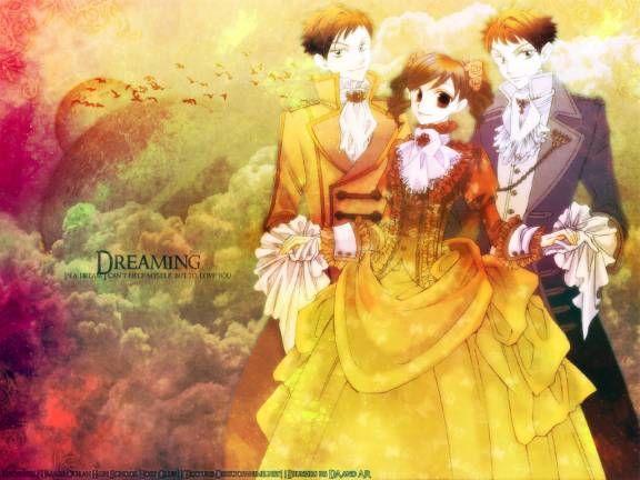 Ouran High School Host Club- Hikaru, Haruhi and Kaoru in Victorian Era Clothes (F) (K)