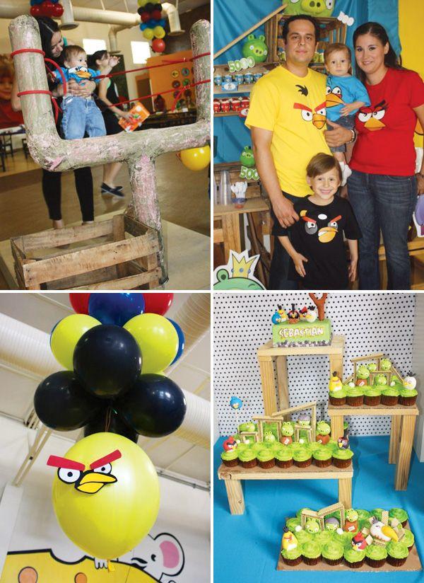 Creative Angry Birds Birthday Party- Creative cupcakes display
