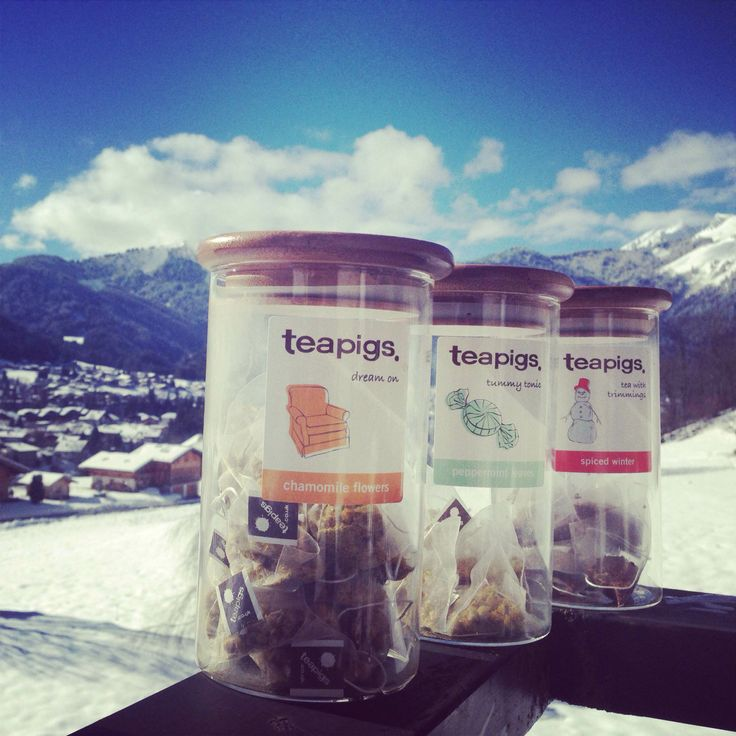 tea with a view at Treeline Chalets!