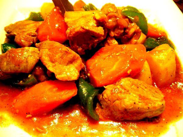 Pork Afritada (Pork Stewed in Tomato Sauce) Recipe | Kusina ni Master