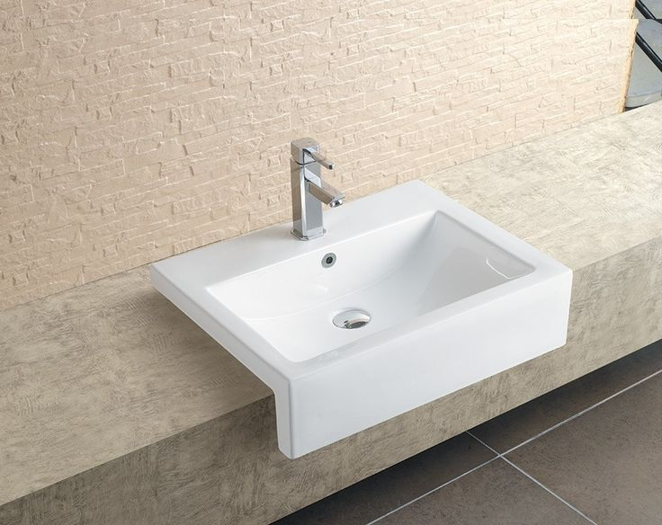 Stratos Large Semi Recessed Basin | Semi Recessed Basins | Splashdirect