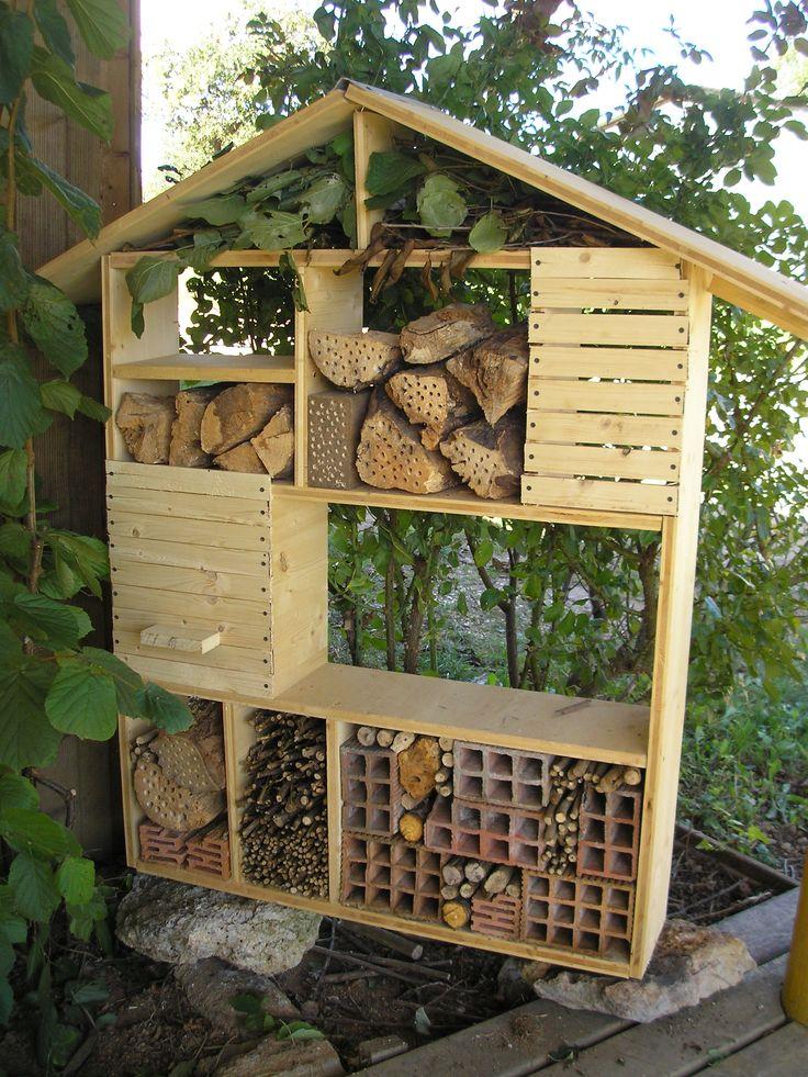 Les 9 meilleures images du tableau abri coccinelles sur pinterest coccinelles abri et h tel - Maison a insectes fabrication ...