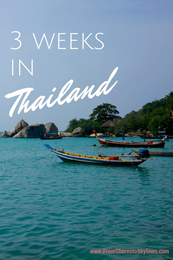 3 weeks in thailand- great tips on what/not to bring with a good breakdown of their itinerary
