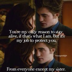 bella and edward and baby with quotes - Google Search