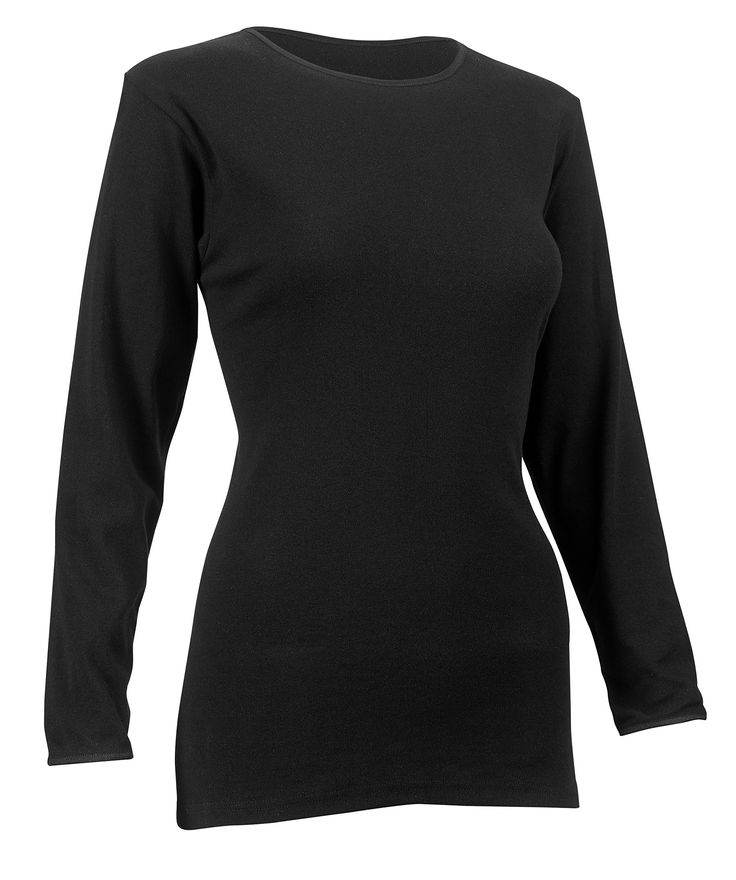 Rosette Women's Long Sleeve Undershirt, Smooth and Seamless, 100% Cotton, Medium, Black. SUPER COMFORTABLE WITH SEAMLESS FABRIC - 100% Cotton Long sleeve undershirts are being famous to be breathable, moisture and vapor absorber. Its fabric allows for all day wear during any type of activity as it keeps you comfortably dry. The seam less design benefits to Not Show Out from your top - Wicks off Moisture - Moves with the Body while being active in sports or in gym. EXTREMELY FUNCTIONAL…