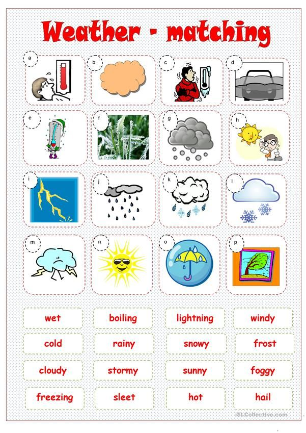 weather matching worksheet free esl printable worksheets made by teachers marina french. Black Bedroom Furniture Sets. Home Design Ideas