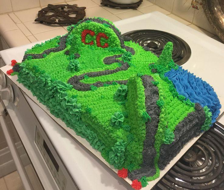 Cross country birthday cake
