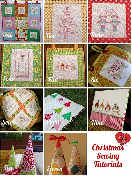 Christmas sewing tutorials: Christmas Crafts, Quilting Tutorials, Christmas Quilts, Free Christmas, Eleven Free, Christmas Sewing, Christmas Ideas, Sewing Tutorials, Quilts Tutorials