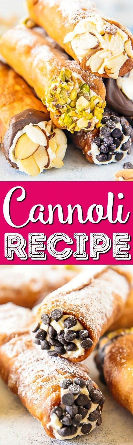 Homemade cannoli are so easy to make and taste just as satisfying as one bought from an Italian bakery. The crispy shell and creamy, sweetened ricotta cheese filling are to die for and will make any day a little extra special!