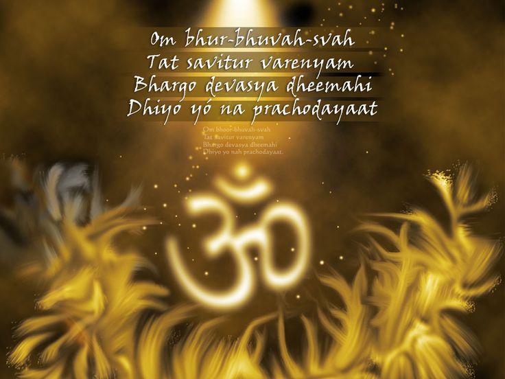 Ом Бхур Бхувах Свах Тат Савитур Вареньям Бхарго Девасья Дхимахи Дхийо Йо Нах Прачодаят