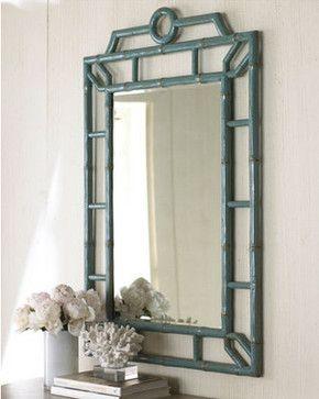 Blue Bamboo Mirror - asian - mirrors - Beth Connolly