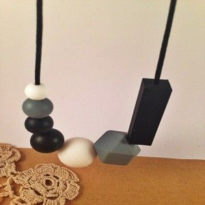 Black Onyx teething necklace #ohswag #stylishmamas #mamafashion