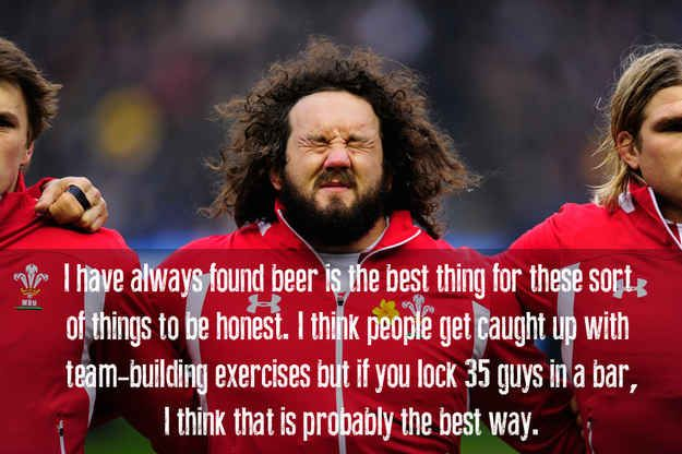 Welsh rugby star Adam Jones' thoughts on team-building.