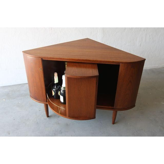 Image Of Mid Century Danish Modern Teak Corner Bar Cabinet Part 39
