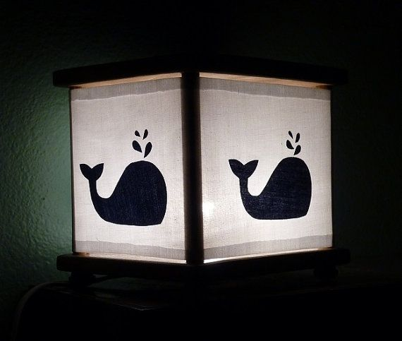 Whale Night Light Lamp Whale Nursery Room Decor Navy by babymamma1, $23.00
