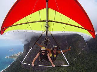 Voo duplo Rio de Janeiro: Fotos e filmagem em HDTV Sistema exclusivo, angulo frontal, quantidade minima de 100 fotos durante o voo em asa delta e parapente