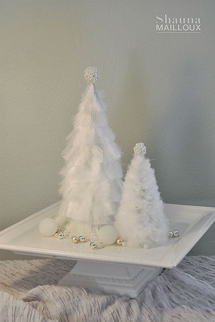 very cute little handmade trees