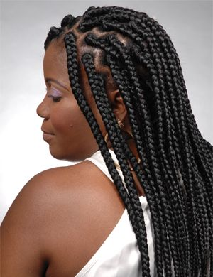 big braid hair styles large box braid hairstyles black big braids 9054