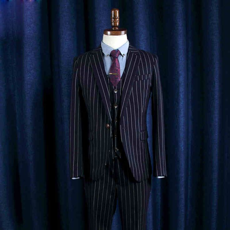 Find More Suits Information about Mens Business Grooms Suits With Pants Slim Fit Stripe Men Dress Suit Jacket Pants N007TZ3,High Quality suit deals,China suits you sexy swimwear Suppliers, Cheap suit yourself bathing suits from NBG AIH on Aliexpress.com