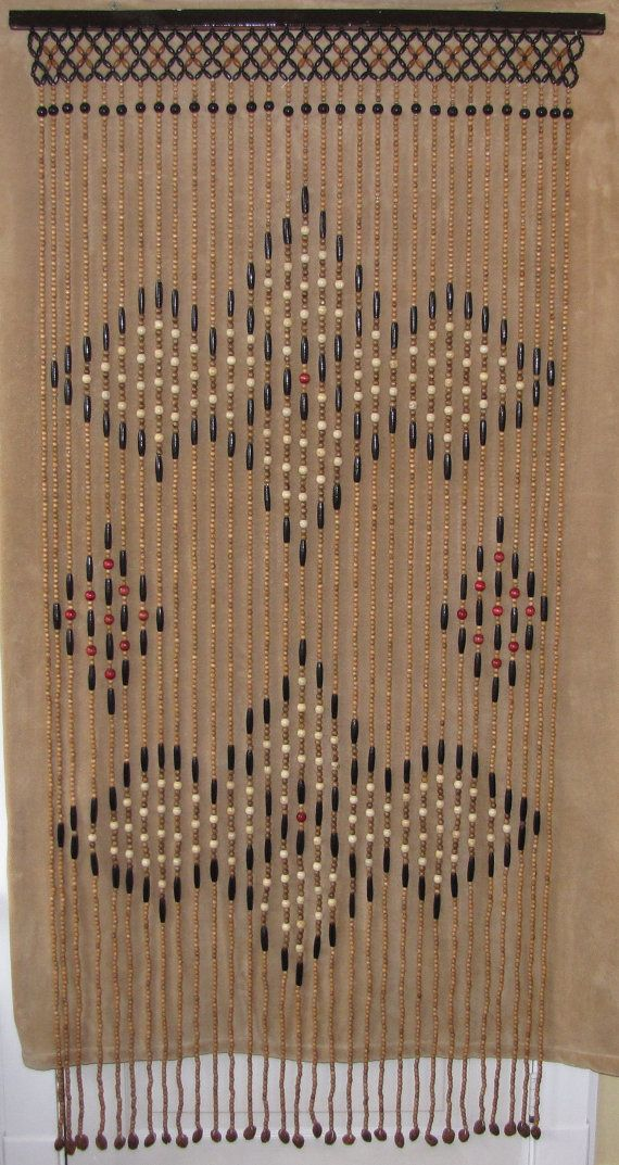 For door way that divides master bath and master bedroom.Vintage Hippie Beaded Doorway / Curtain by davincisattic on Etsy, $55.00.