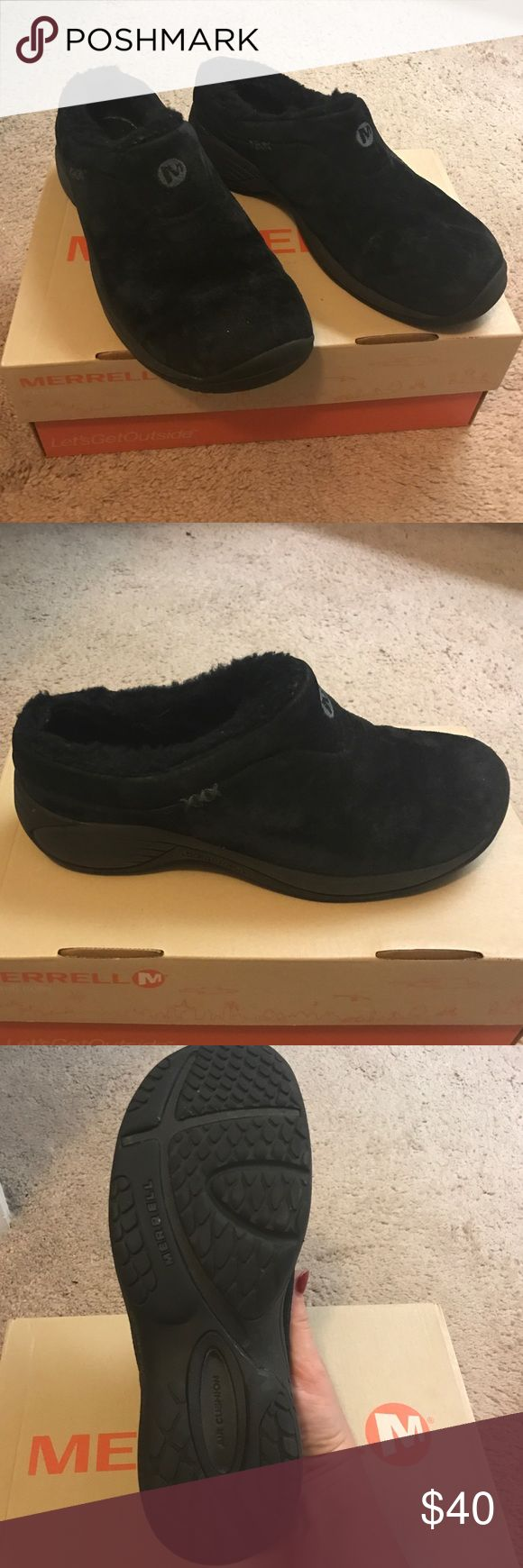 Merrill shoes Size 7.5 Merrell clog type shoes with insulated inside.. very comfy only wore a couple of times Merrell Shoes Mules & Clogs