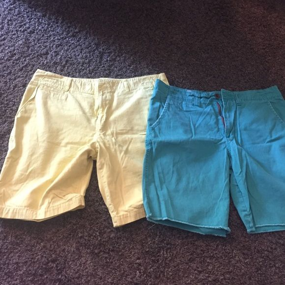 Bundle of 2 bright GUYS shorts Yellow are Urban Pipeline sz 38 and turquoise are Mossimo size 38 men's Mossimo Supply Co Shorts