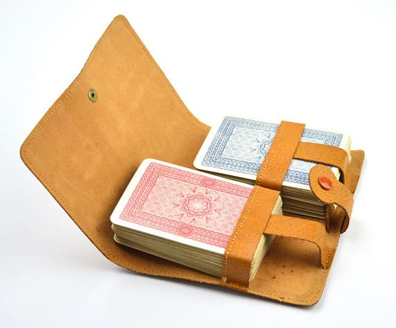 Playing Card Set Bovril Ltd Leather Case Vintage Playing