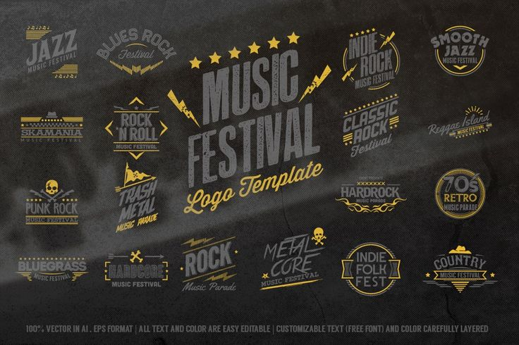 Image of Music Festival Logo Template