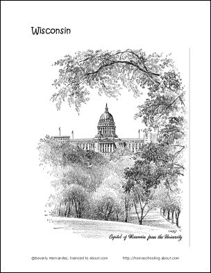 wisconsin coloring pages - 33 best images about wisconsin activity binder on