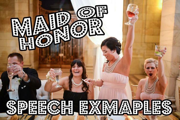 Help me write my maid of honor speech