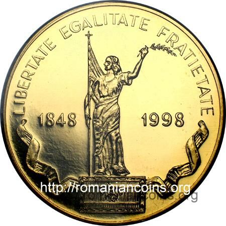 1000 lei 1998 - 150th Anniversary of the Romanian Revolution of 1848