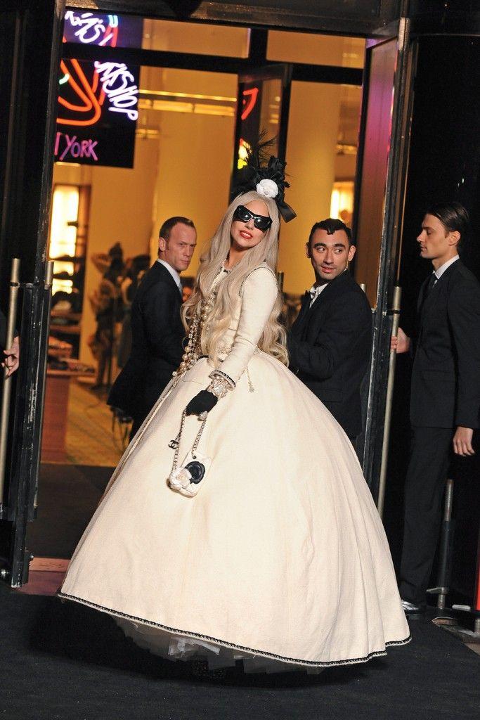 Lady Gaga dripping in chanel