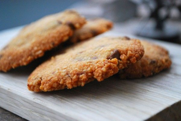 Chocolate chip mazarin cookies - Baka Sockerfritt