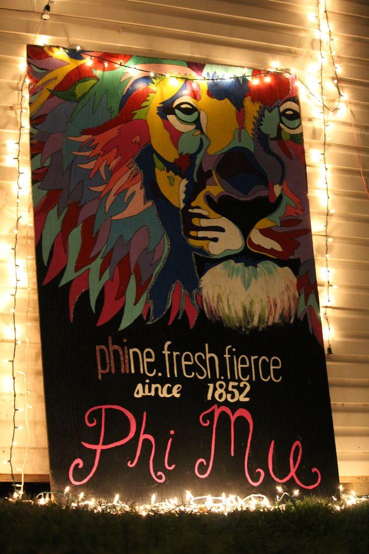 Phi Mu Phi Eta representing