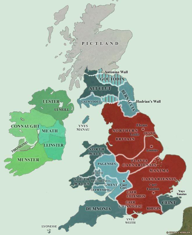 Map of Britain AD 400-425