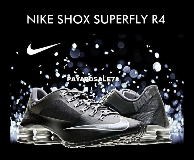 MEN'S BLACK NIKE SNEAKERS SHOX SUPERFLY R4 SIZE 8.5 100% AUTHENTIC NEW IN BOX  #Nike #AthleticSneakers