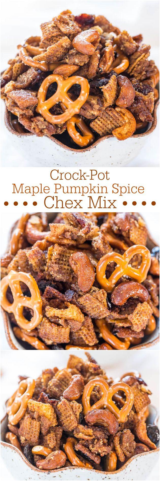 Crock-Pot Maple Pumpkin Spice Chex Mix.