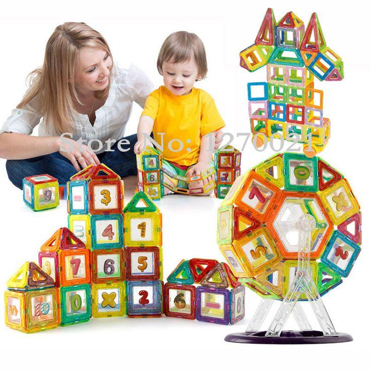 Mini 160pcs/lot Magnetic Designer Construction Building Blocks Models Toys DIY  Magnetic Learning Educational Bricks Blocks Toys