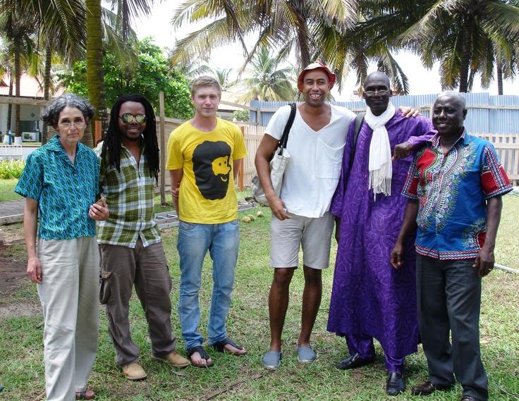 From left, Marjorie Wallace, Zimbabwe; Andile Dyalvane & Heath Nash, SA; Stephen Burks, USA; Boubacar Doumbia, Mali; and Kweku Forson, Ghana, photo: Cathy O'Clery