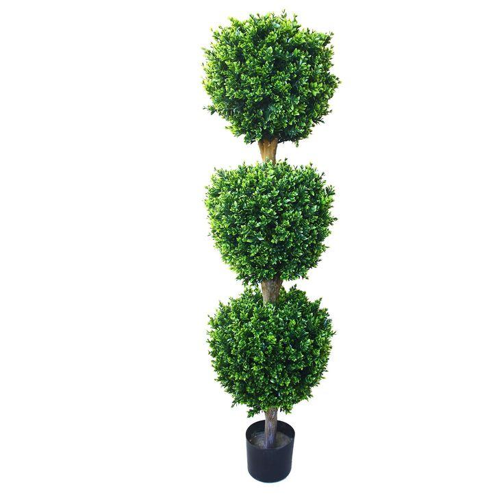 5' Hedyotis Triple Ball Artificial Tree