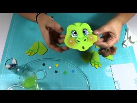 DIY Dinosaurio en Fomi, Goma Eva, Microporoso, Easy Crafts - YouTube